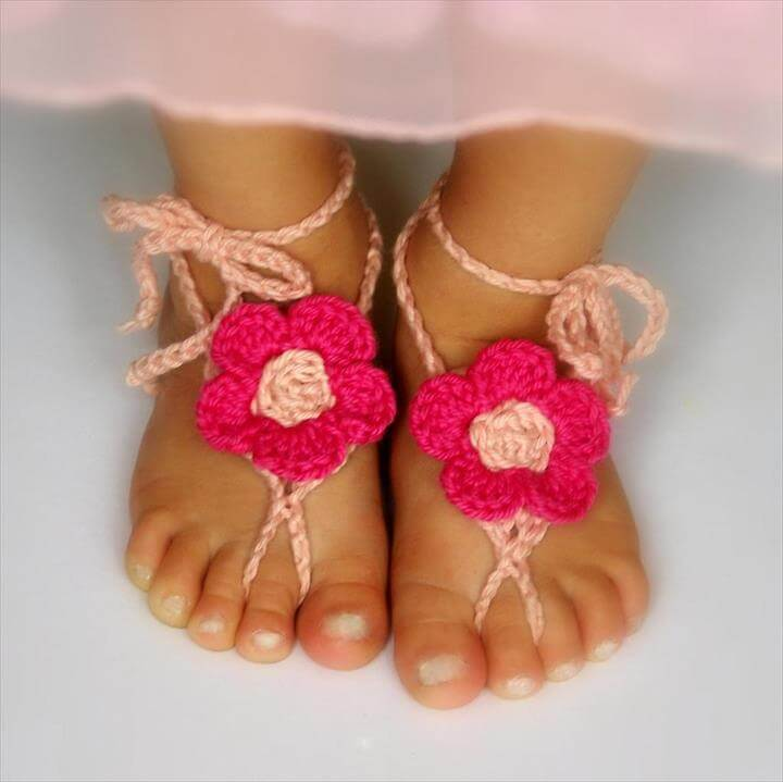 crochet baby sandals pattern pinterest