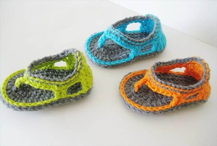 afe144158f6c 36 Gorgeous Crochet Baby Gladiator Sandals