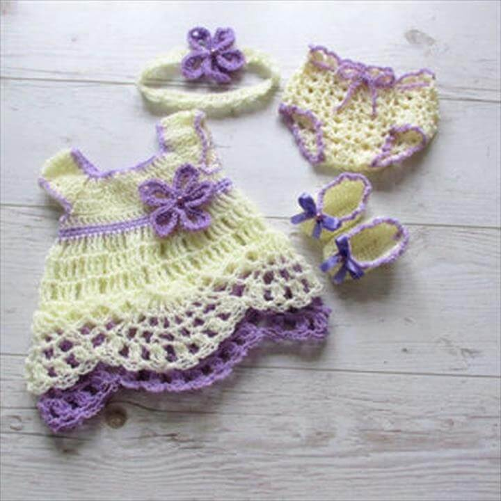 complete crochet baby dress