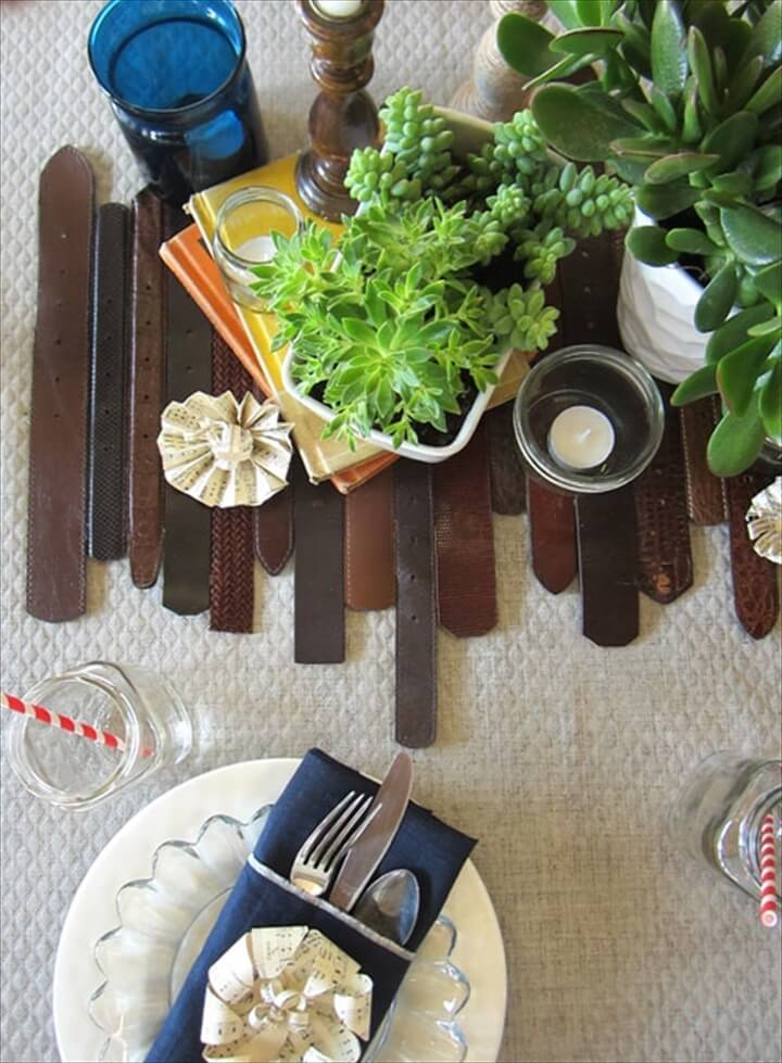Best ideas for diy old leather belt table: