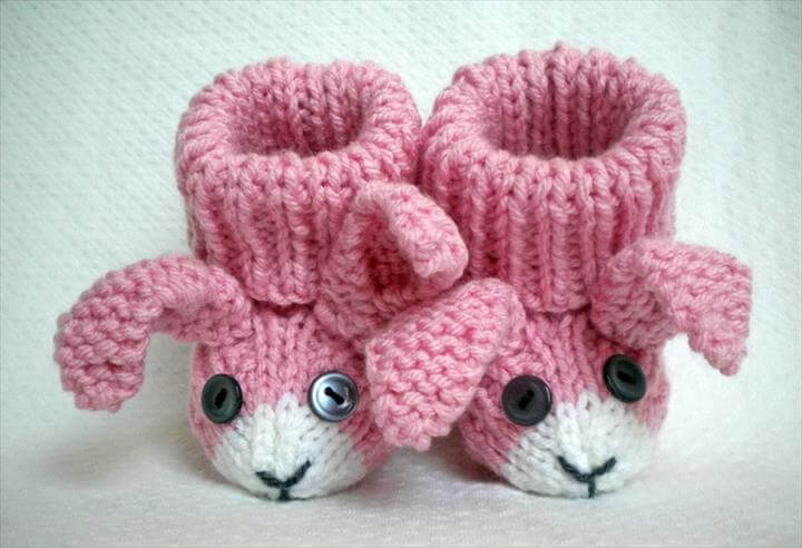 Free Easy Baby Booties Knitting Pattern : 15 Easy To Make Crochet Baby Animals Slippers DIY to Make