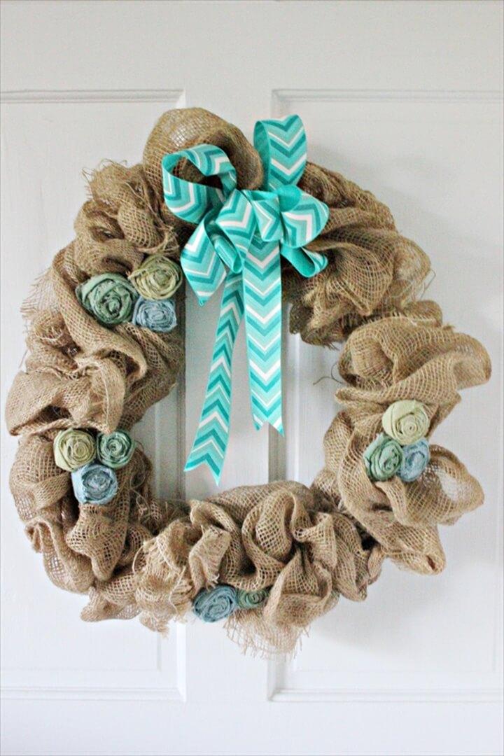 diy nice burlap wreath