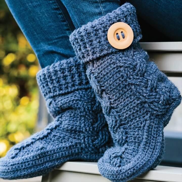 Aran Slipper Boots