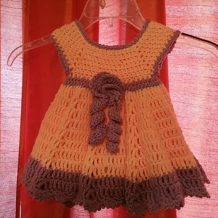 Cincare crochet Ministry Dresses - Flower twirl handmade crochet baby dress