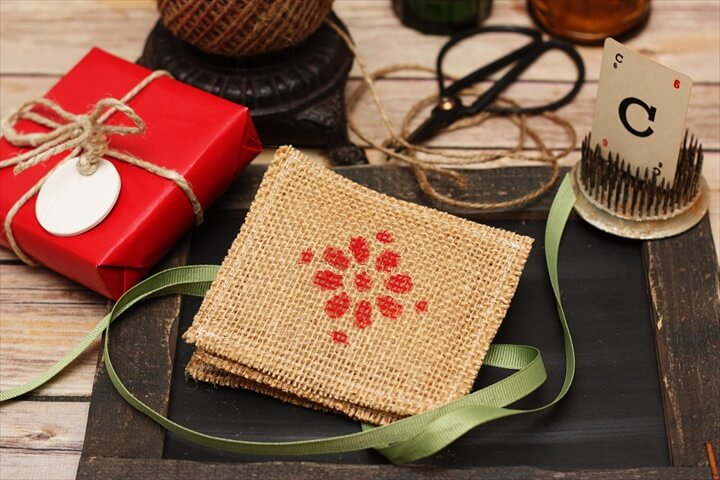 Scented Burlap Drawer Sachets
