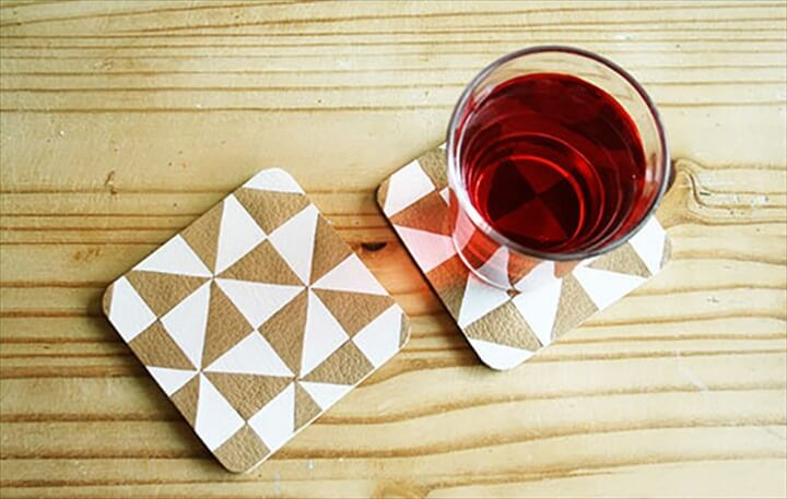 Delight your guests when you serve their drinks with these coin coasters