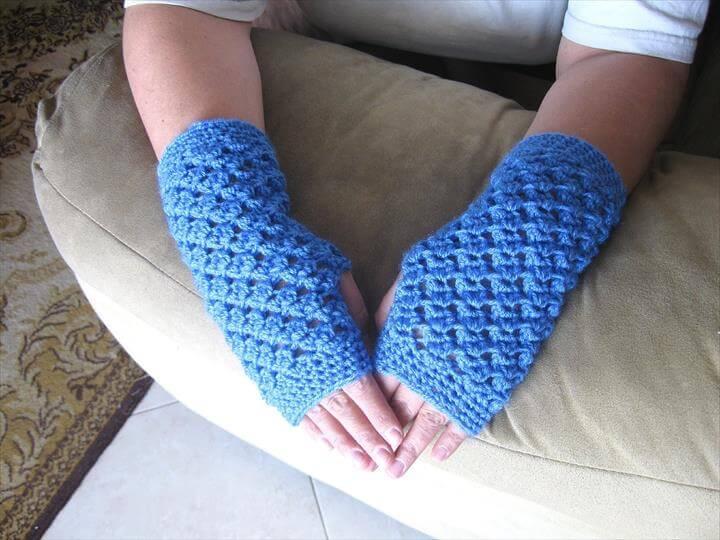 Crochet Openwork Handwarmers