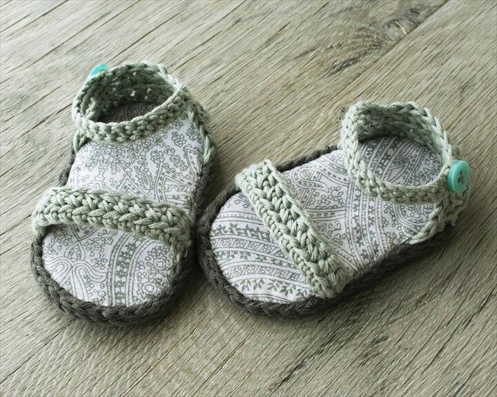 two colord crochet sandals