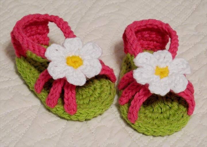 Crochet Baby Girl Flip Flops