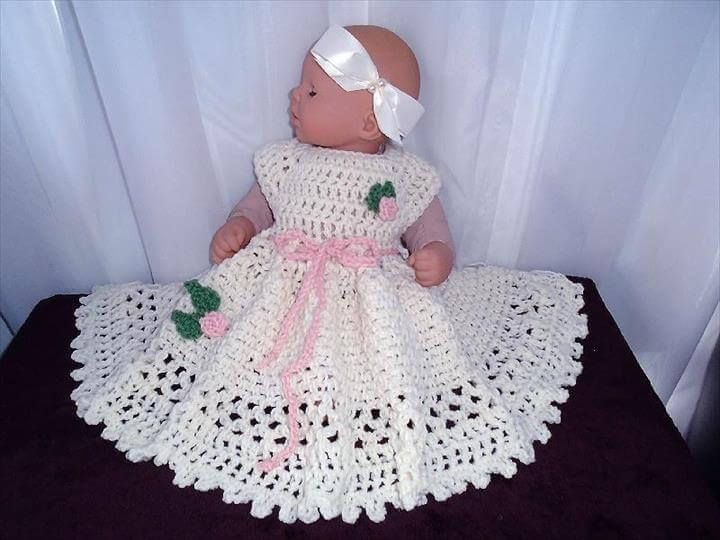 Gorgeous Crochet Baby Dress Babies Diy Make