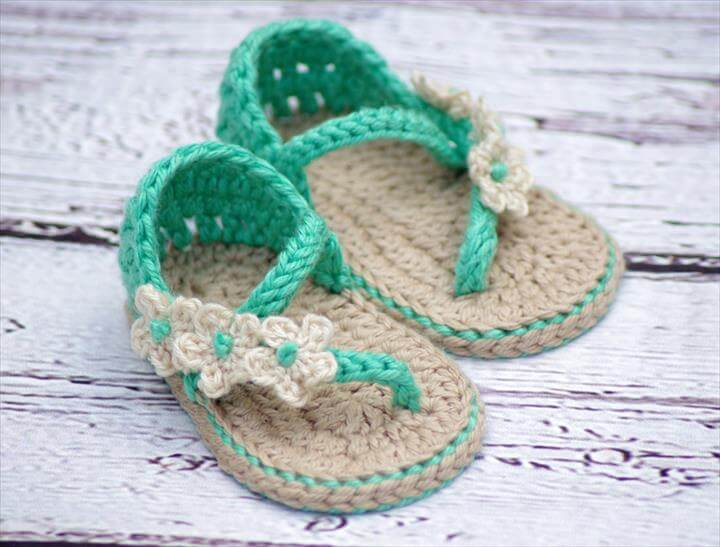 37451e0f4 36 Gorgeous Crochet Baby Gladiator Sandals
