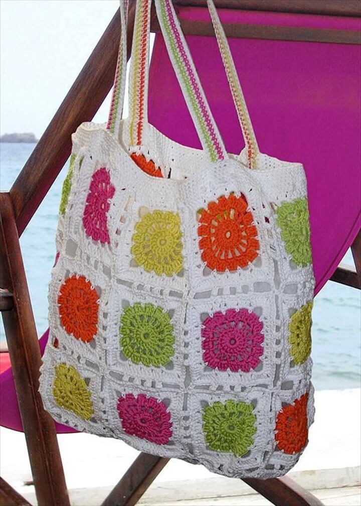 crochet tote bag design