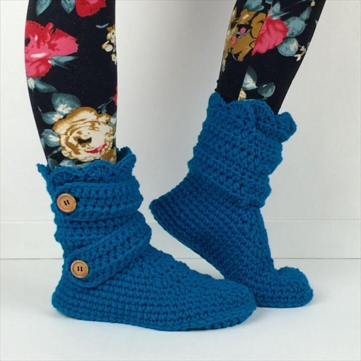 Cozy Crochet Slipper Boots Pattern