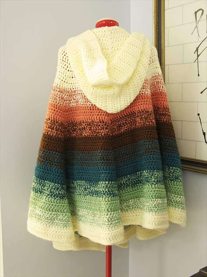 Crochet Chalet's Hooded Ruffled Shawl