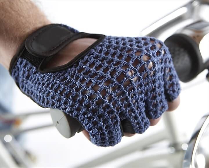 Crochet Cycling Gloves - Men's