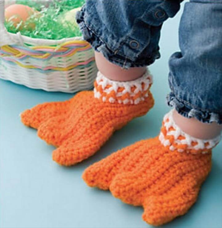 Crochet Duck Feet Pattern