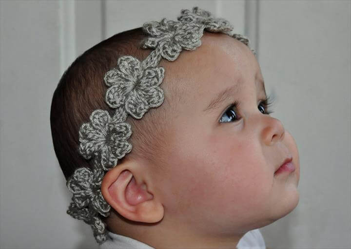 bracelet flower crochet headband