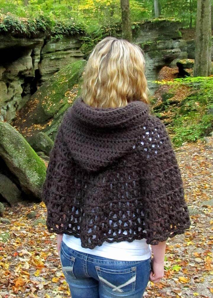 16 Diy Ideas About Crochet Hooded Cap Shawl Diy To Make