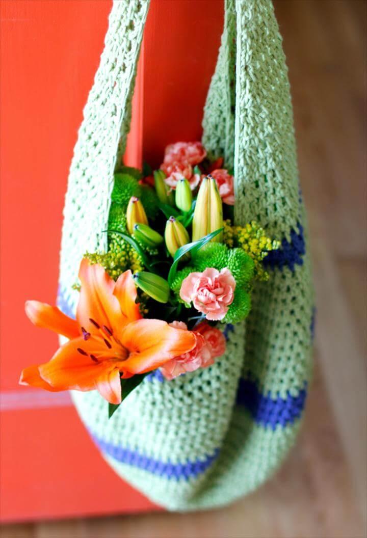 Crochet Pattern for a Farmer's Market Tote Bag