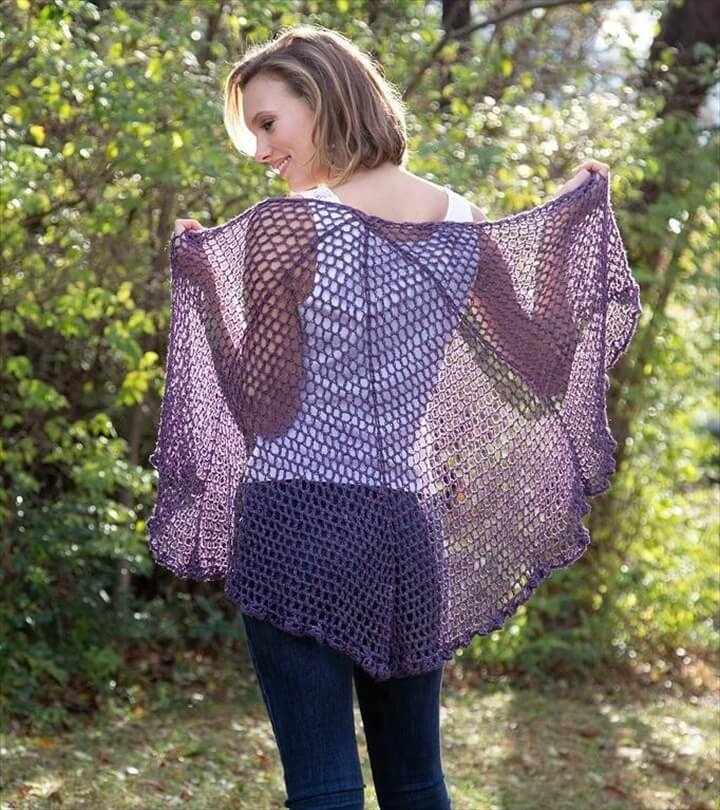refracted lace crochet shawl pattern