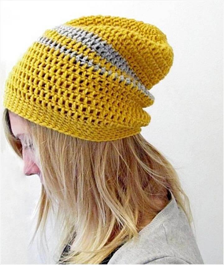 Crochet Urban Slouchy Beanie