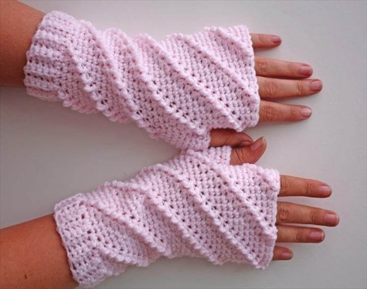 Whipped Fingerless Gloves Crochet Pattern is an original pattern