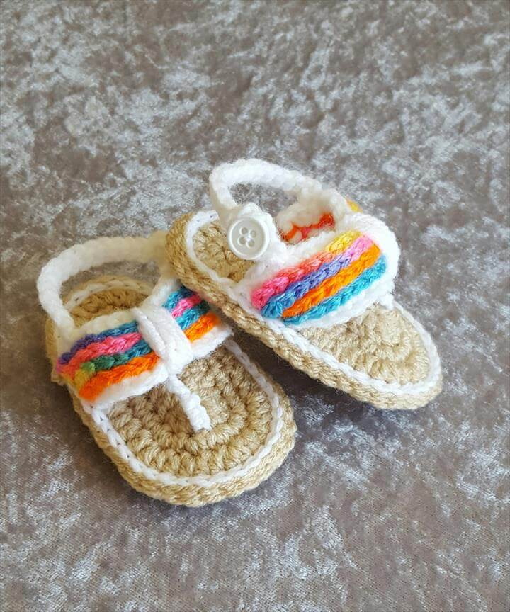 Crochet baby girl sandals, baby girl shoes, baby summer shoes, baby flip flops