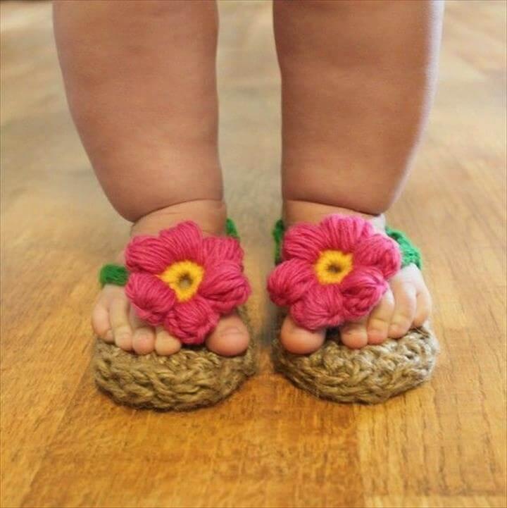 Crochet Jute Sandals