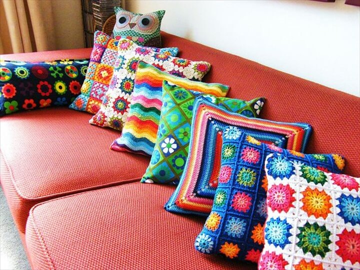 amazing diy crochet pillows