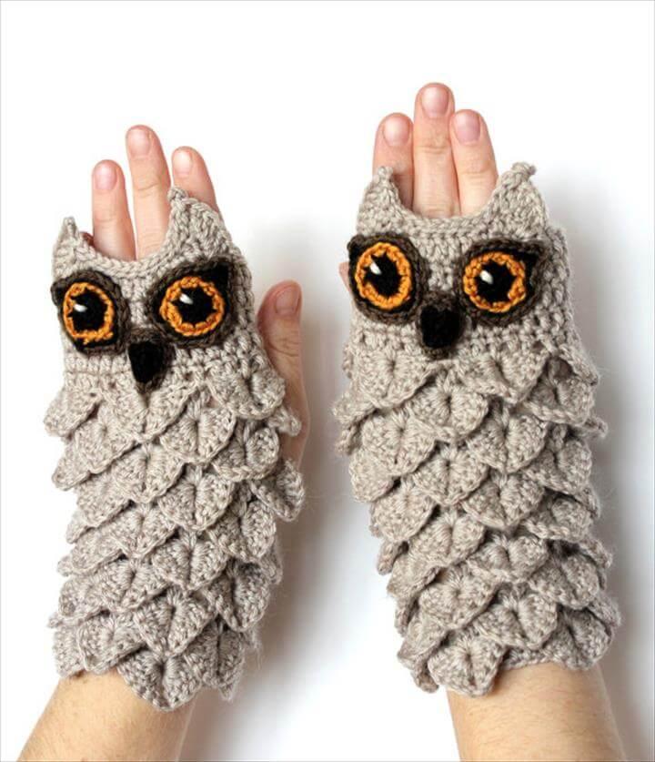 crochet-gloves-owl-pattern