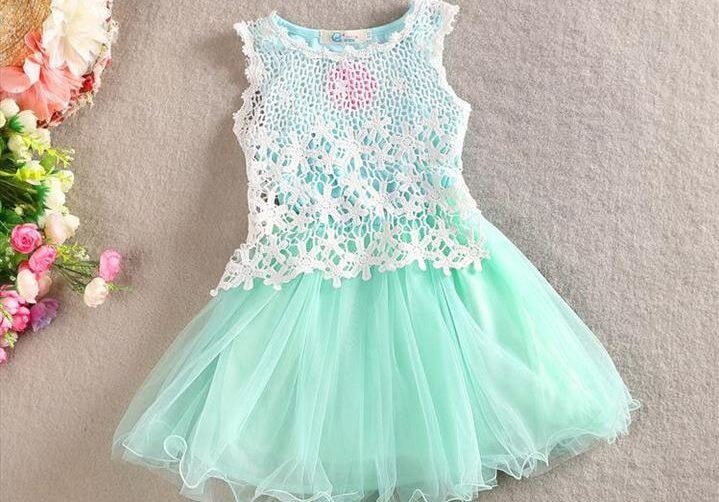 stylish girl's crochet dress