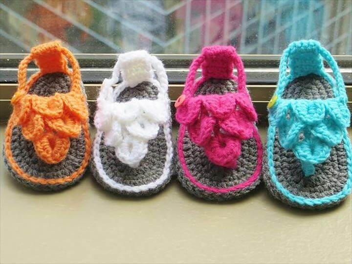 Crochet Sandals and Baby Barefoot Sandals