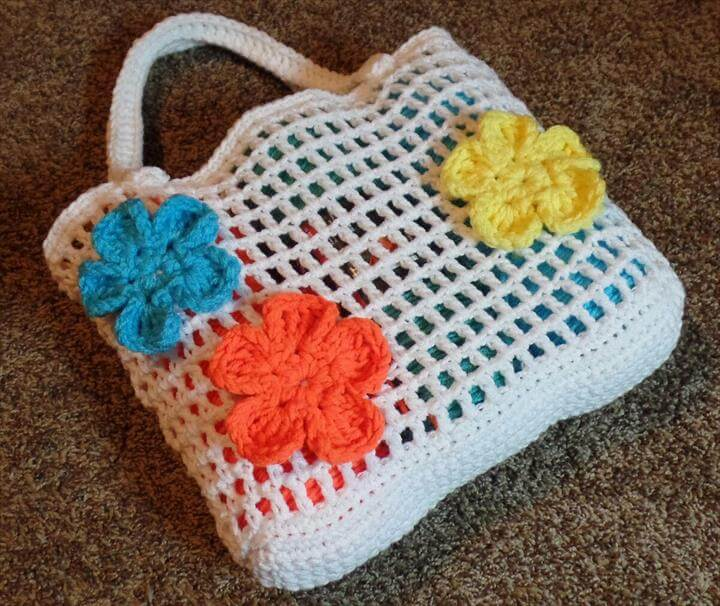 Crochet Beach Bag : 50 DIY Crochet Purse, Tote & Bag Patterns DIY to Make
