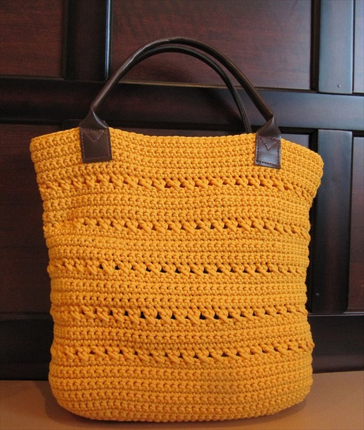 Easy Crochet Tote Bag Pattern : Crochet Tote Pattern (Sunny Summer Tote) :