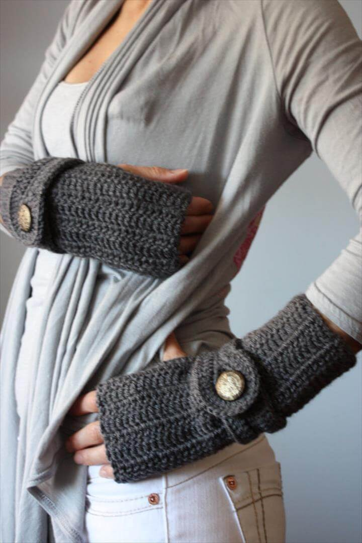 Cute Crochet Wrist Warmers