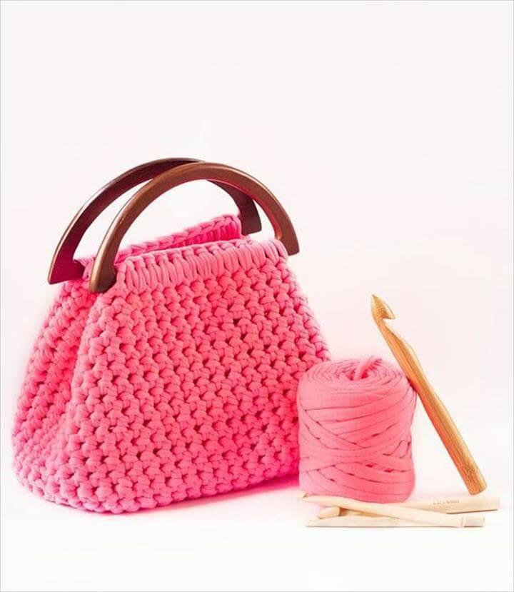 Bolso Crocheted Handbag Purse Tote Bag