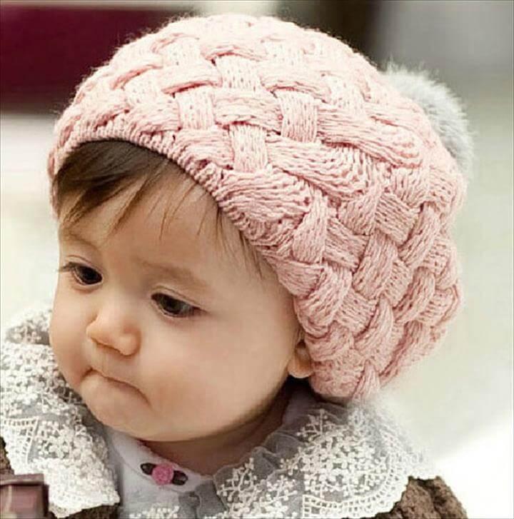 light color crochet hat