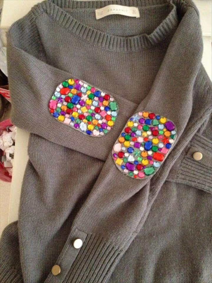 Jeweled Elbow Patches