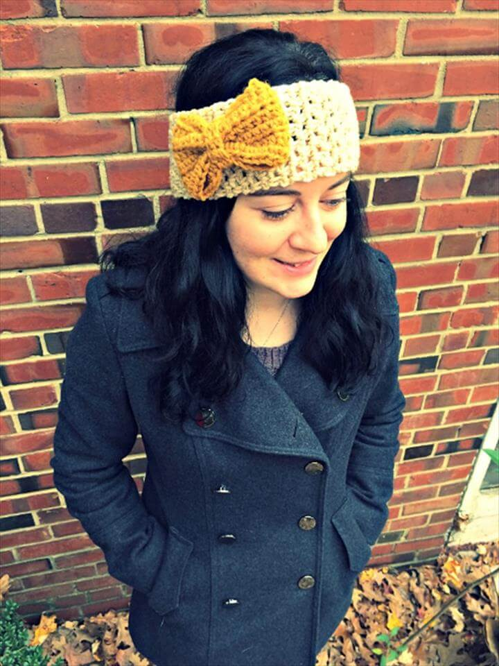 DIY Crochet Headband Pattern with Bow