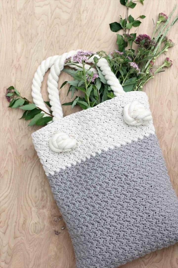 Crochet Tote Pattern : 50 DIY Crochet Purse, Tote & Bag Patterns DIY to Make