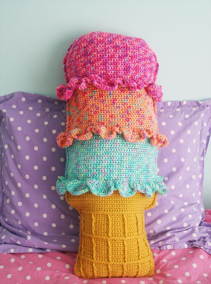 DIY Pillows,Rainbow Sherbet Throw Pillow
