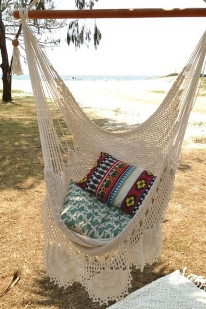 DIY Crocheted Hammock