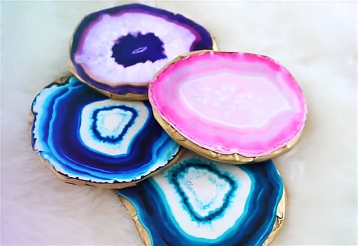 DIY Faux Agate Coasters