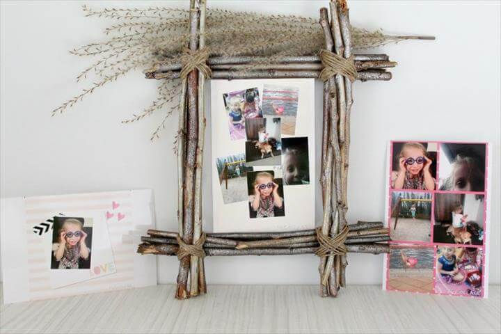 DIY Rustic Photo Frame tutorial
