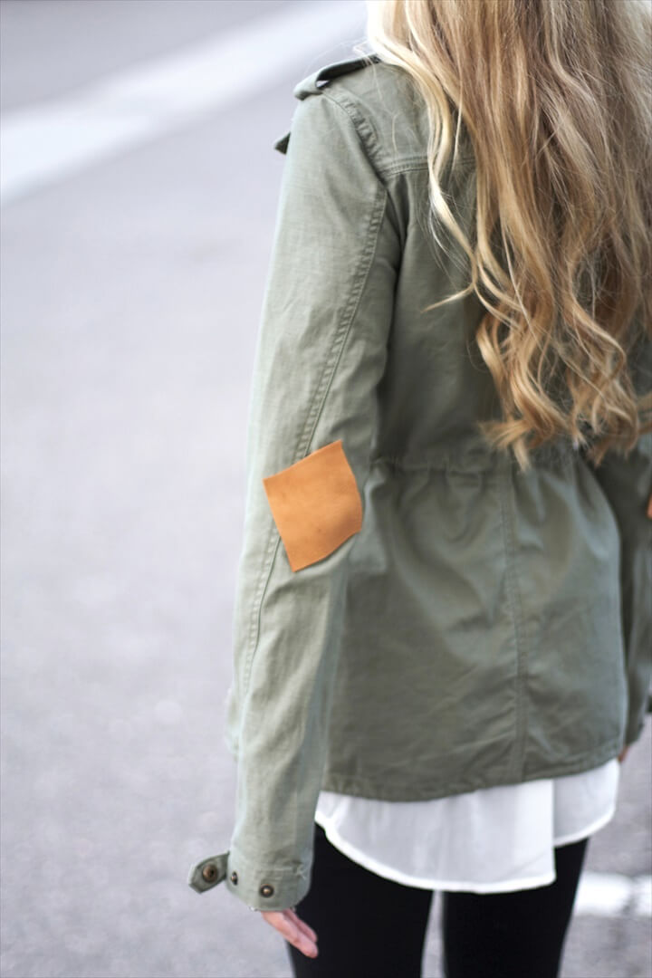DIY elbow patches