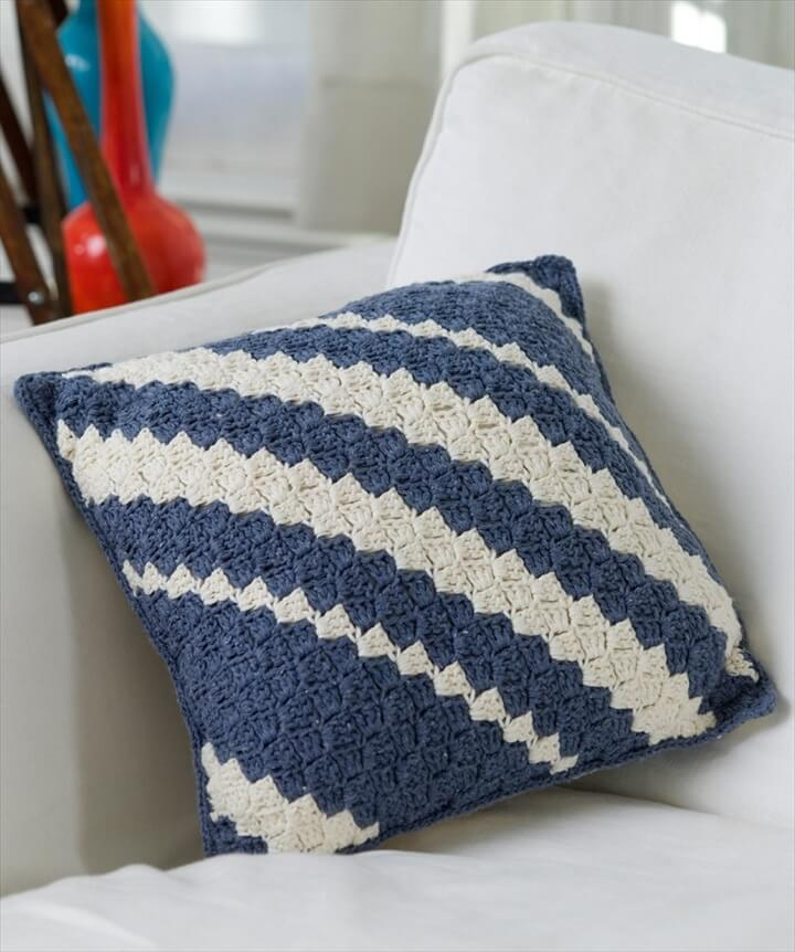 Diagonal Pillow Crochet Pattern