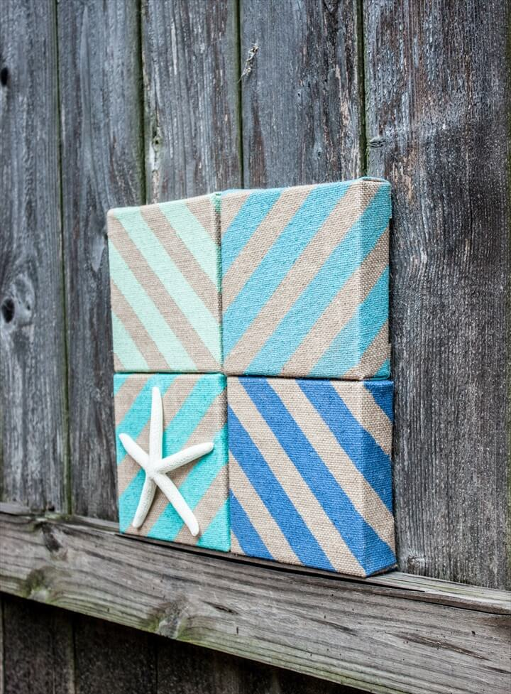 Easy Burlap Coastal Decor
