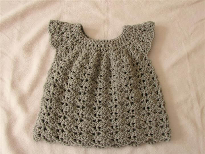 crochet an easy shell stitch baby