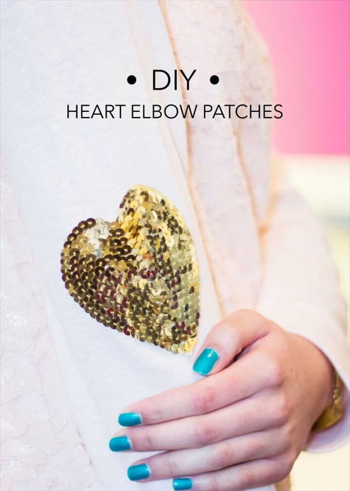 DIY Heart Elbow Patches