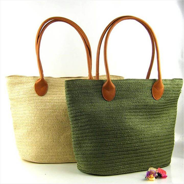 Fashion Large Casual Tote Knitting Crochet Bags